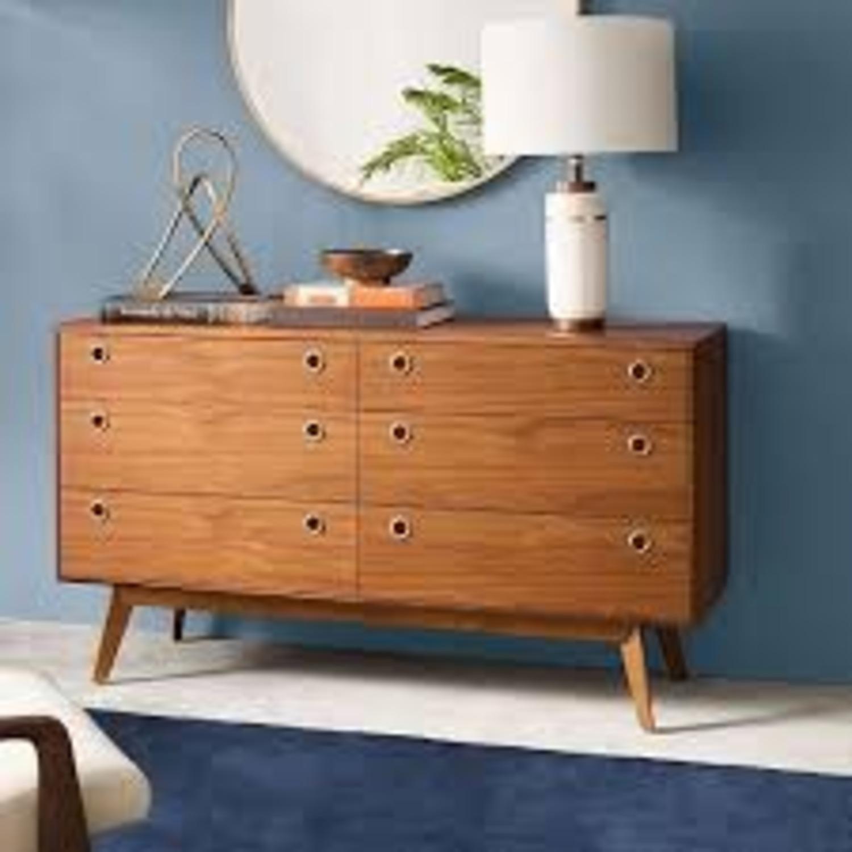 West Elm Mid-Century 6 Drawer Dresser Walnut - image-1