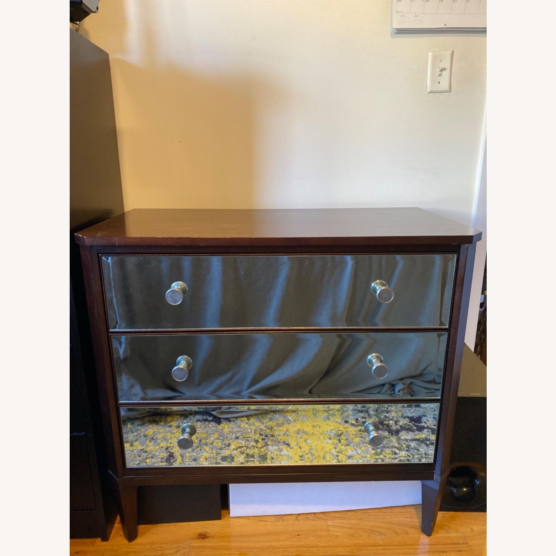 Ethan Allen Mirrored Wood Dresser - image-1