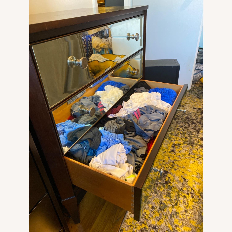 Ethan Allen Mirrored Wood Dresser - image-4