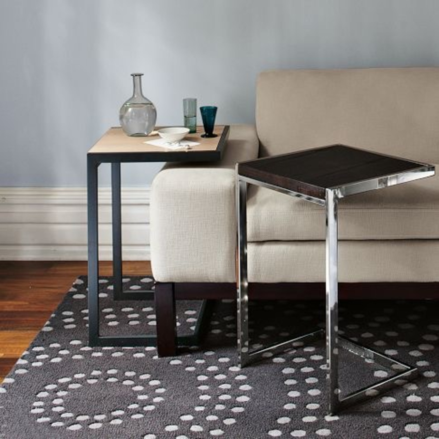 West Elm Framed C-Side Table - image-1