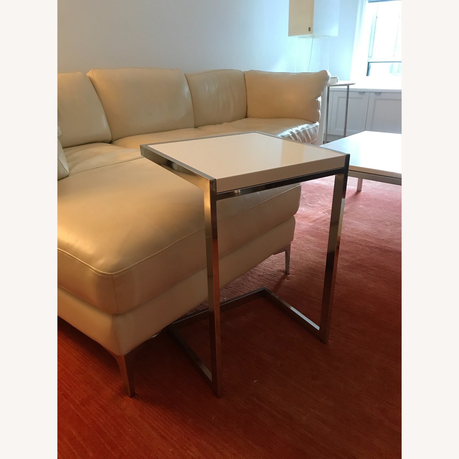 West Elm Framed C-Side Table - image-5