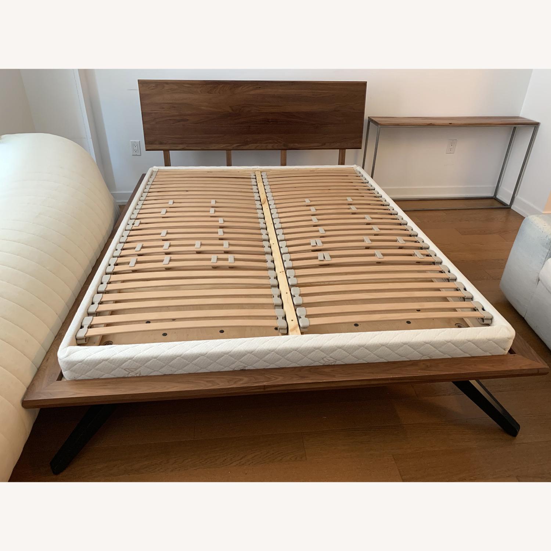 "Copeland ""Astrid"" Walnut Platform Bed + Headboard - image-7"