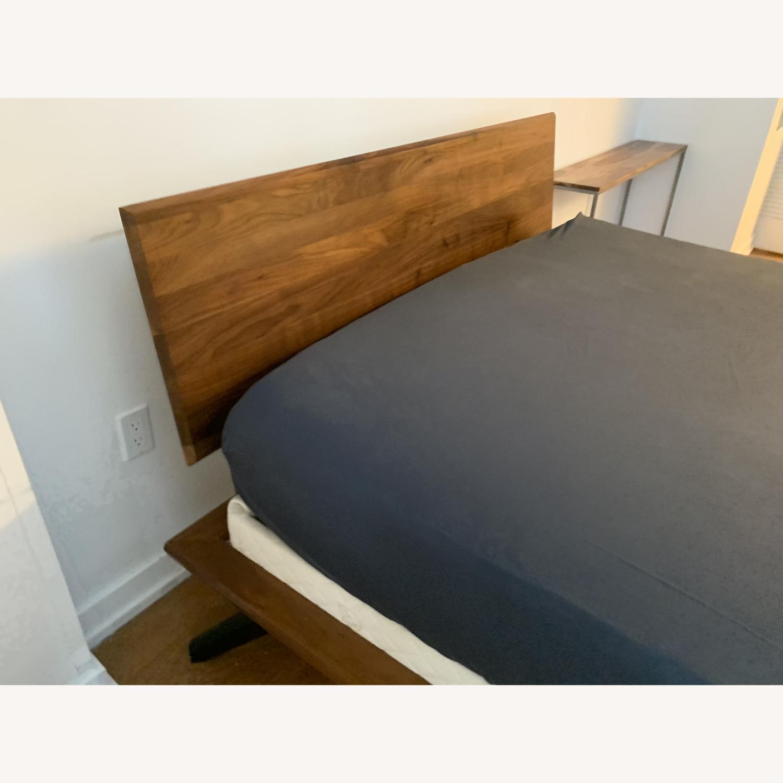"Copeland ""Astrid"" Walnut Platform Bed + Headboard - image-9"