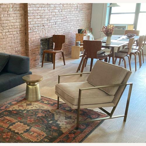 Used West Elm Brass side table for sale on AptDeco