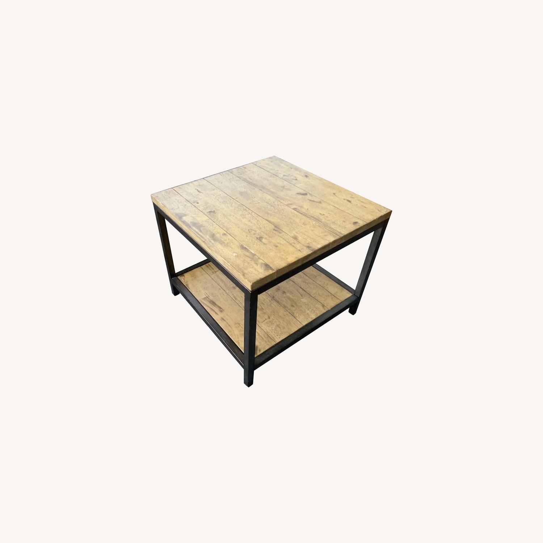 Distressed Ballard Designs Square Bunching Tables - image-0