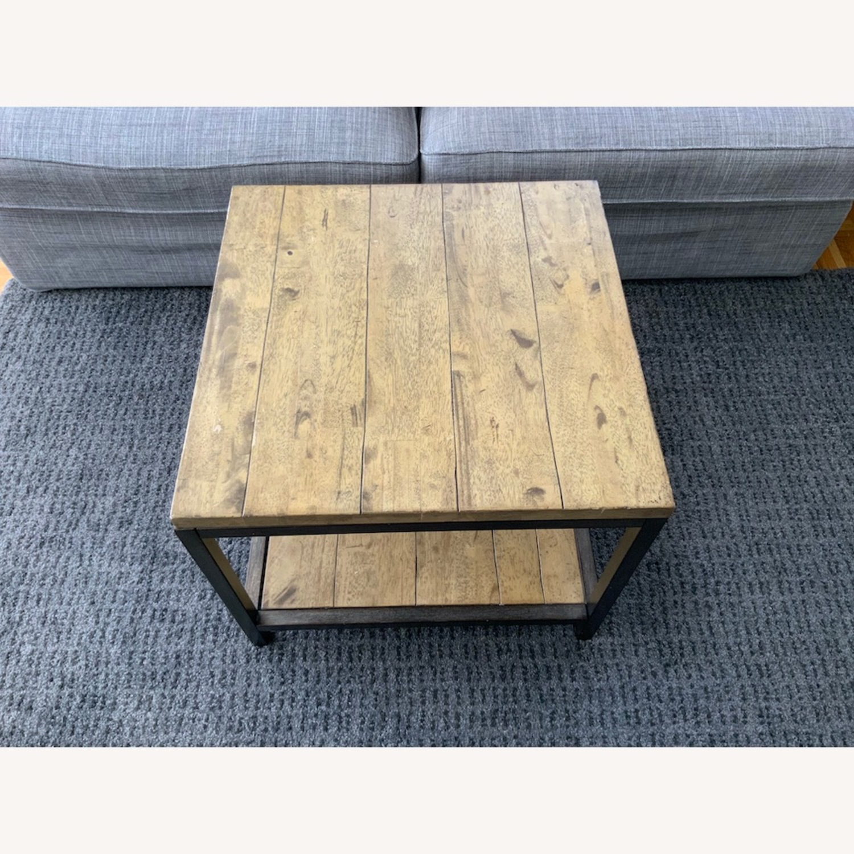 Distressed Ballard Designs Square Bunching Tables - image-3