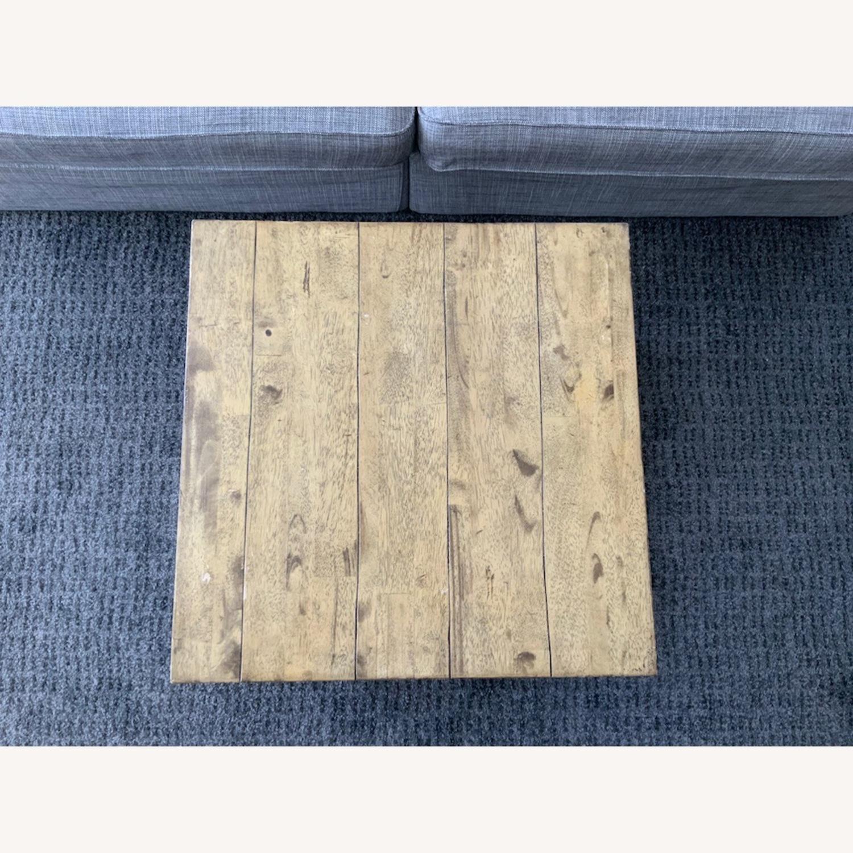 Distressed Ballard Designs Square Bunching Tables - image-4