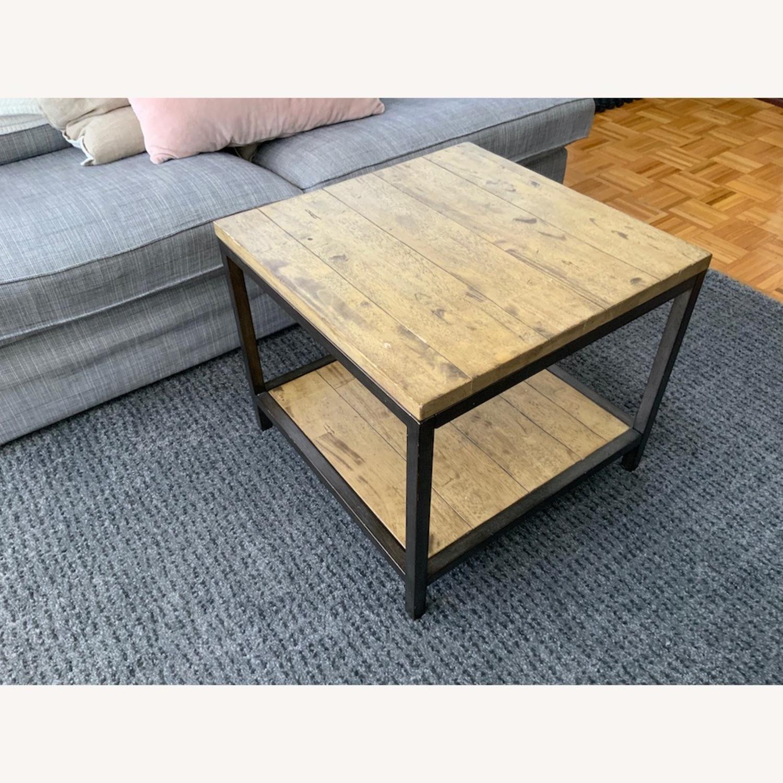 Distressed Ballard Designs Square Bunching Tables - image-2
