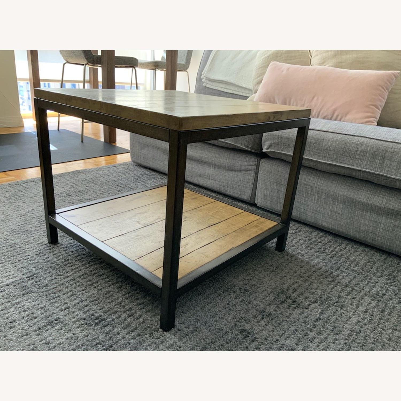 Distressed Ballard Designs Square Bunching Tables - image-1