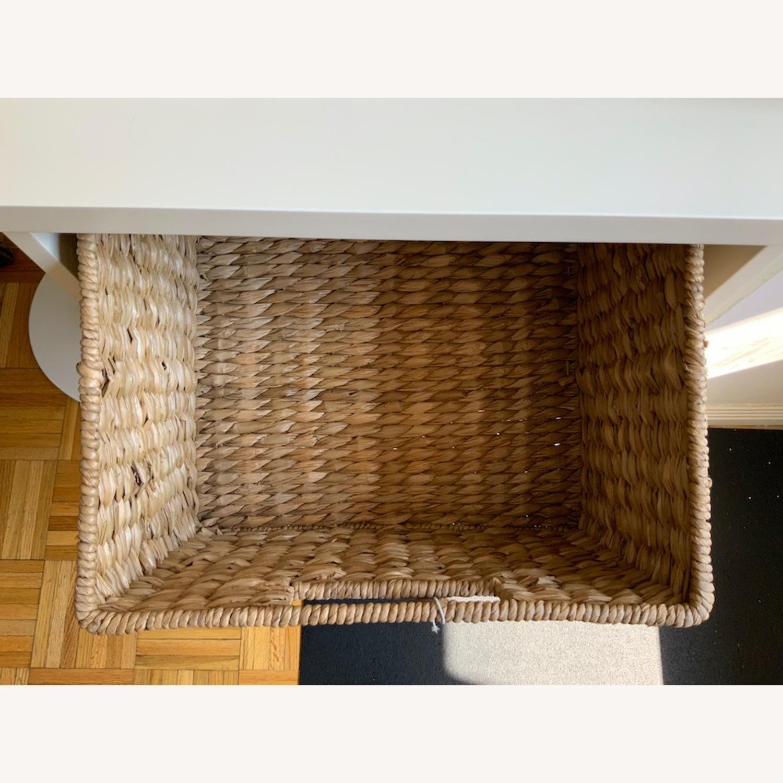 Pottery Barn 2 Shelf with Baskets - image-5