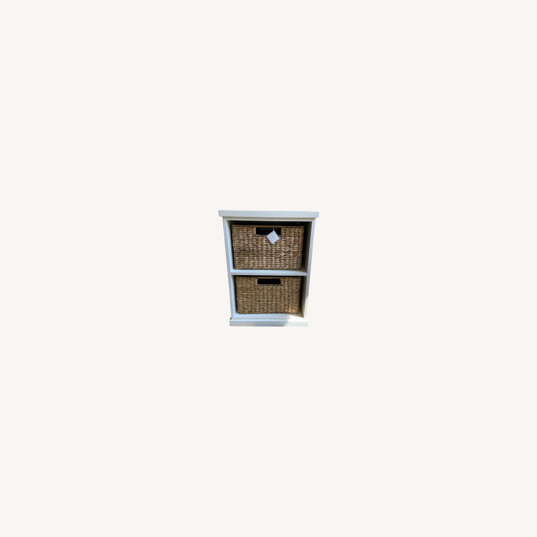 Pottery Barn 2 Shelf with Baskets - image-0