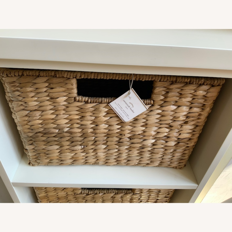 Pottery Barn 2 Shelf with Baskets - image-4