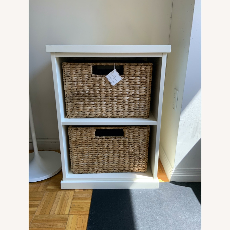 Pottery Barn 2 Shelf with Baskets - image-1