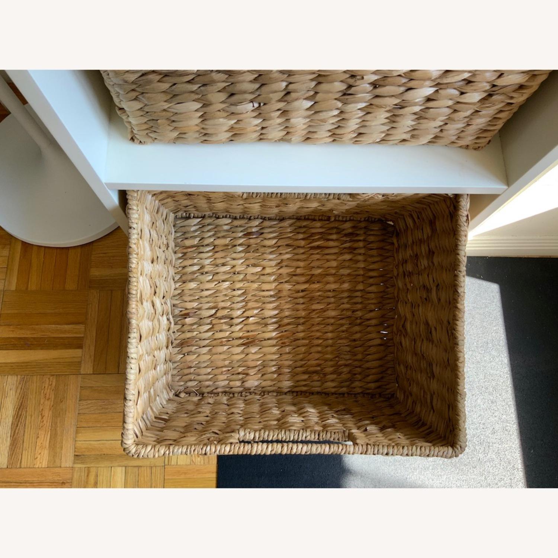 Pottery Barn 2 Shelf with Baskets - image-6