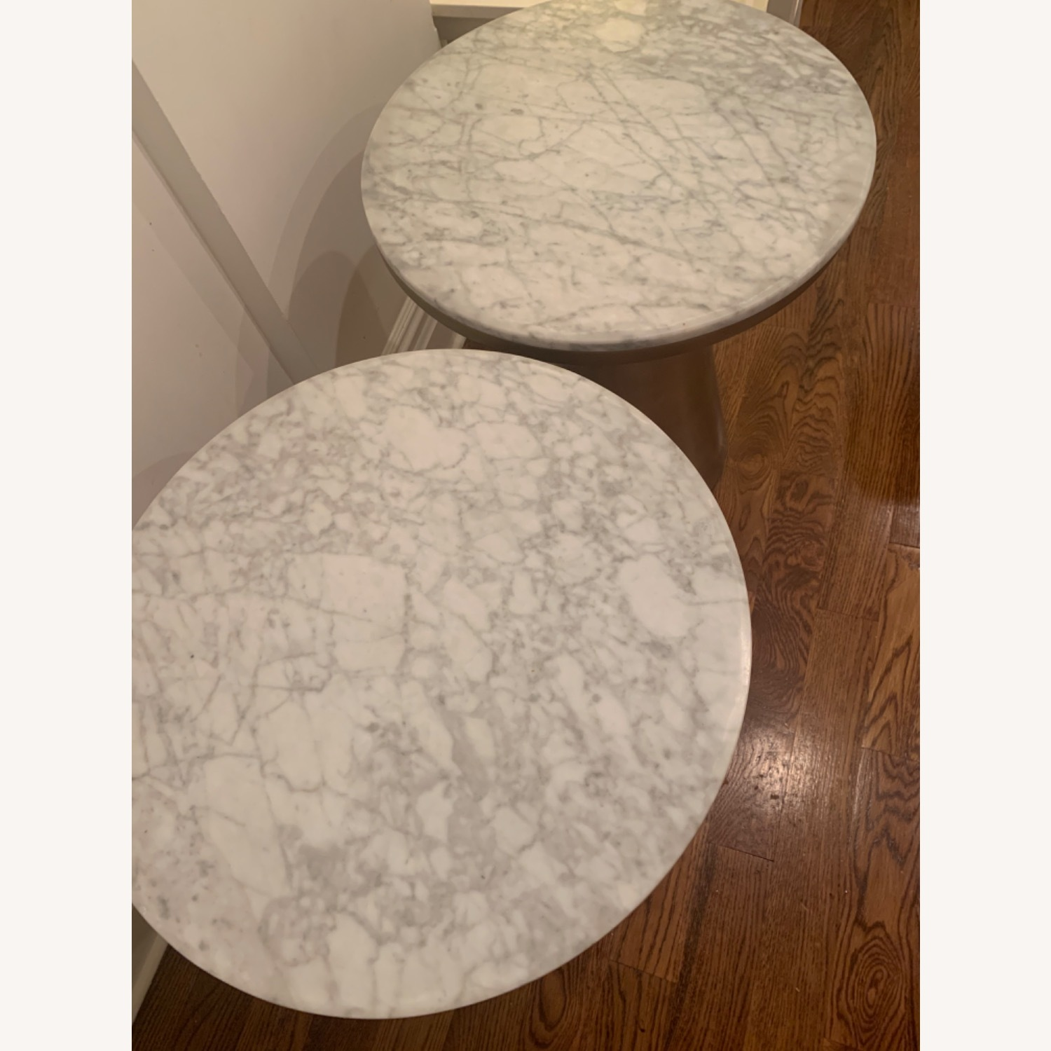 West Elm Marble and Brass Side Tables - image-2