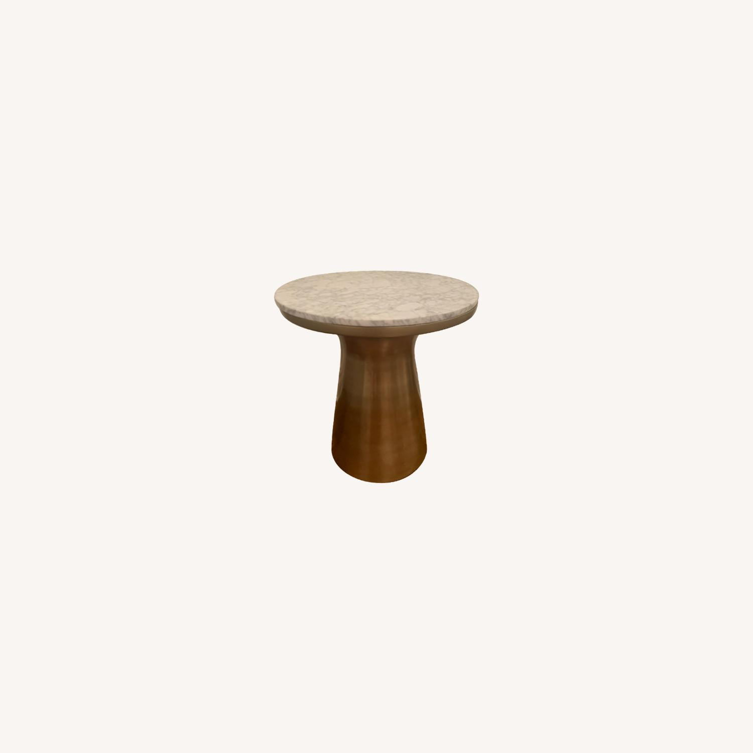 West Elm Marble and Brass Side Tables - image-0