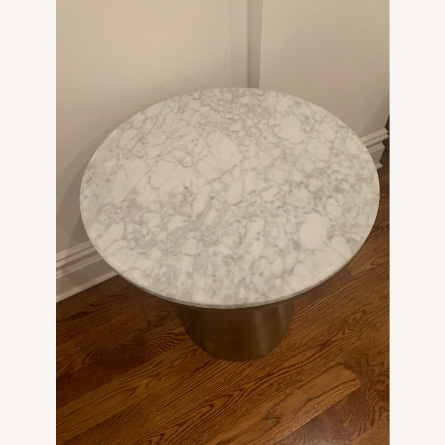 West Elm Marble and Brass Side Tables - image-6