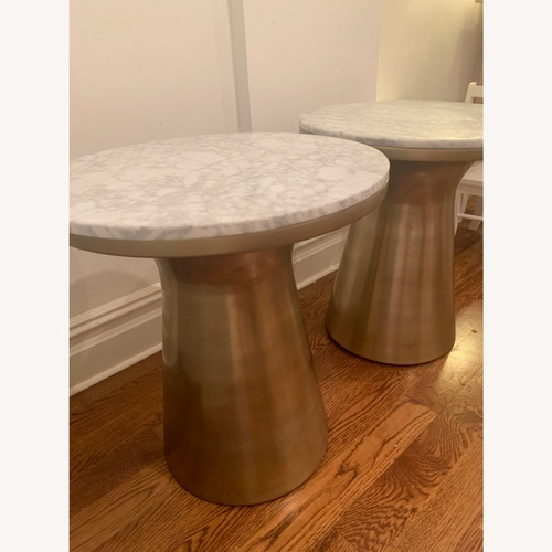 Used West Elm Marble and Brass Side Tables for sale on AptDeco
