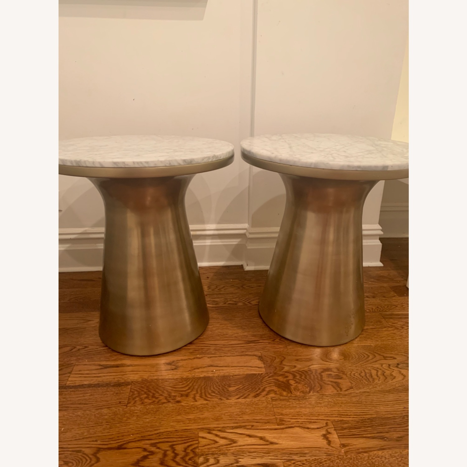 West Elm Marble and Brass Side Tables - image-1
