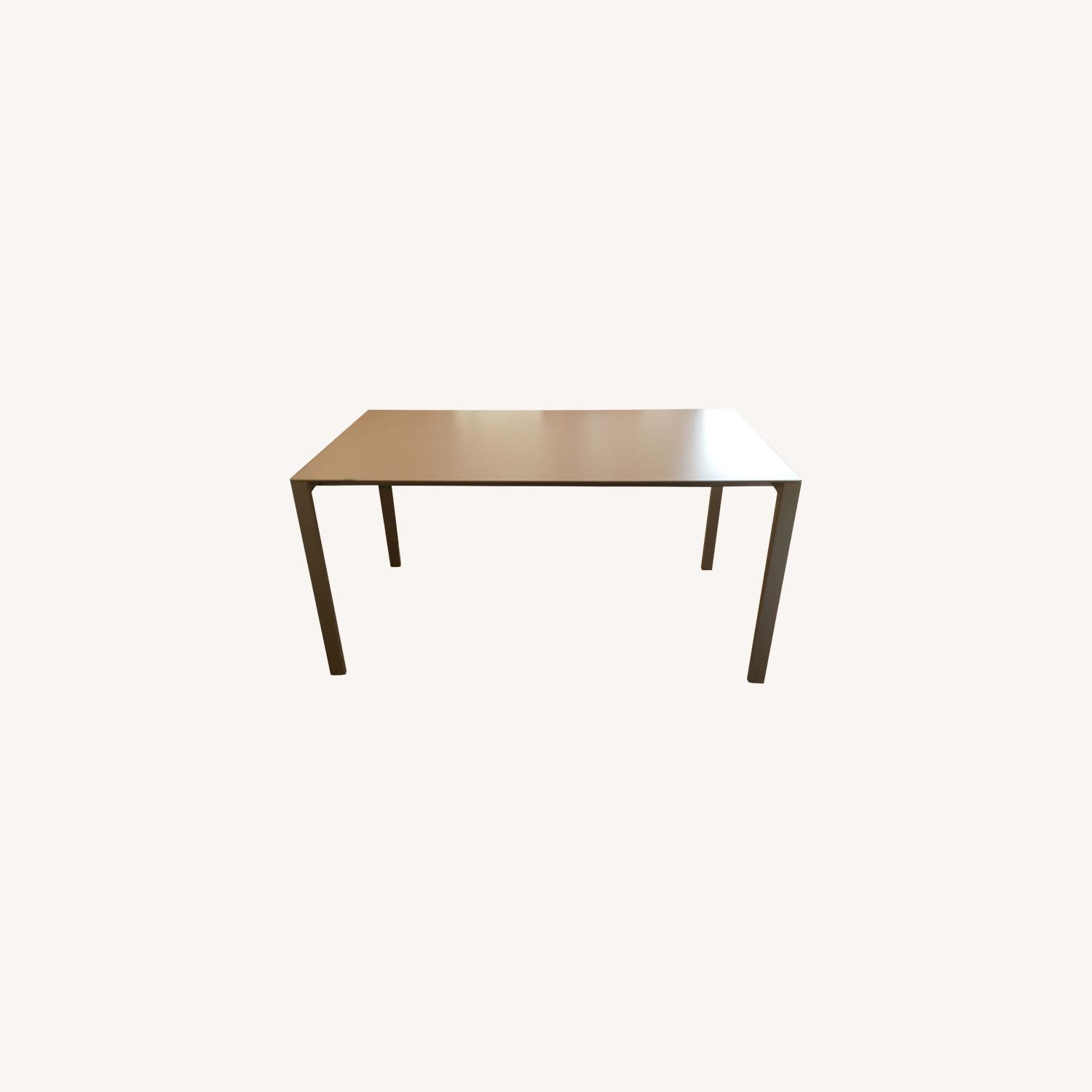 CB2 Expendable White Dinning table (Seat up to 8) - image-0