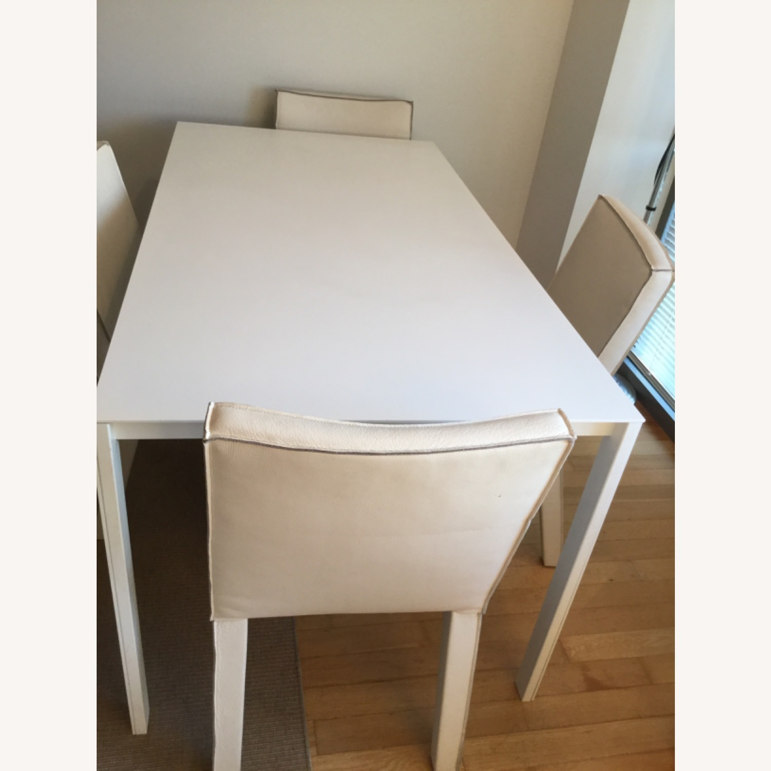 CB2 Expendable White Dinning table (Seat up to 8) - image-2