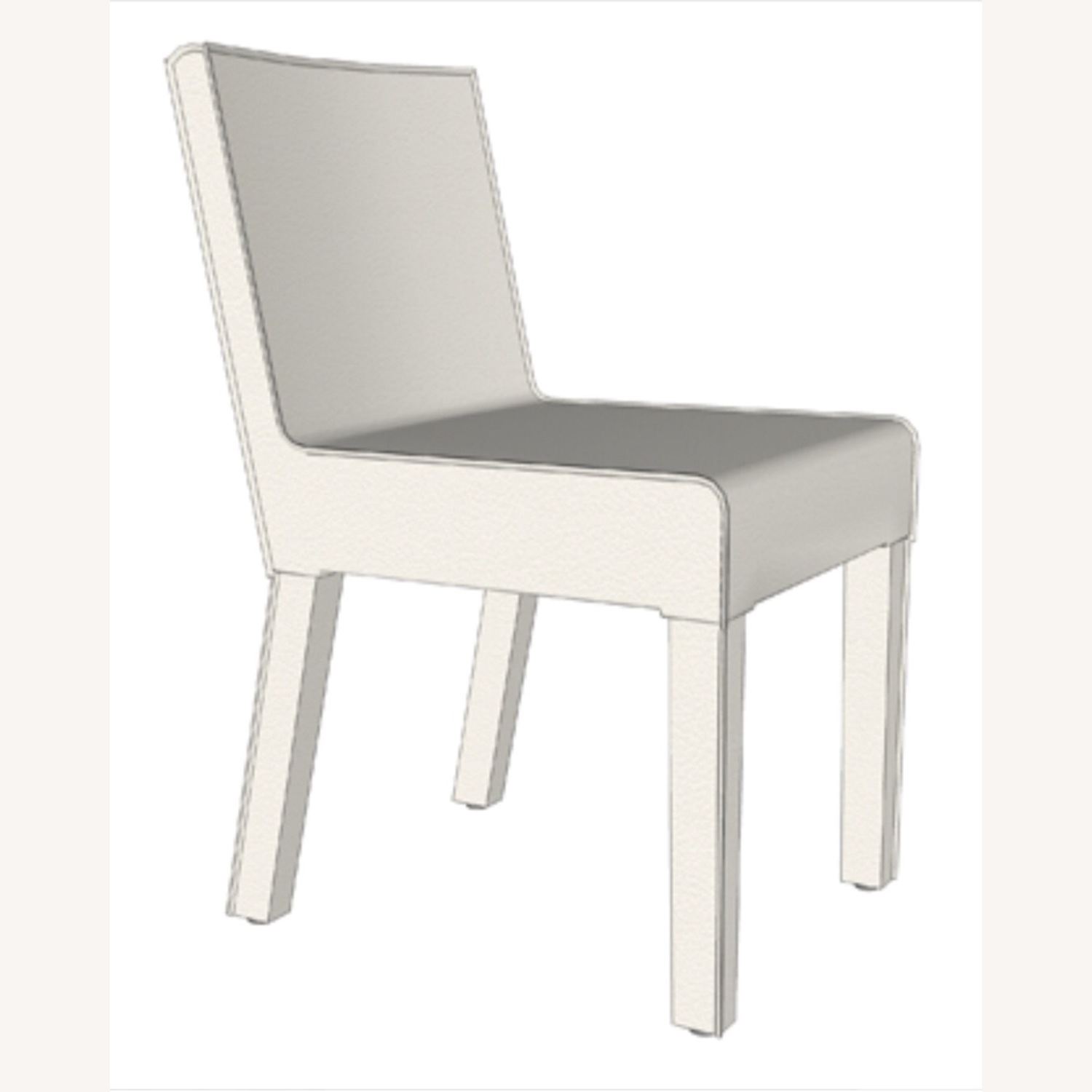 4 Chalk Leather Dining Chairs - image-3