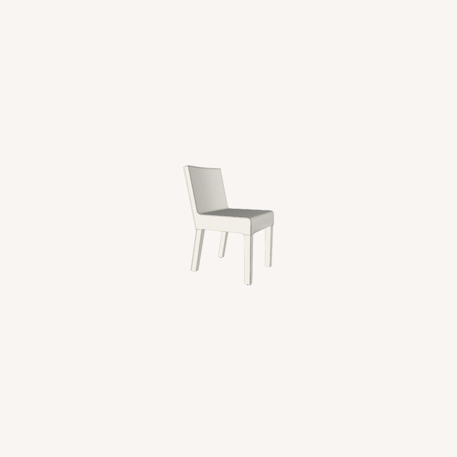 4 Chalk Leather Dining Chairs - image-0