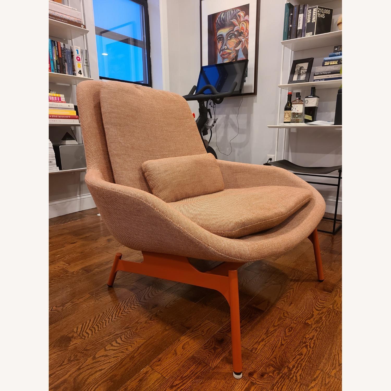 Blu Dot Lounge Chair in Tomato - image-0