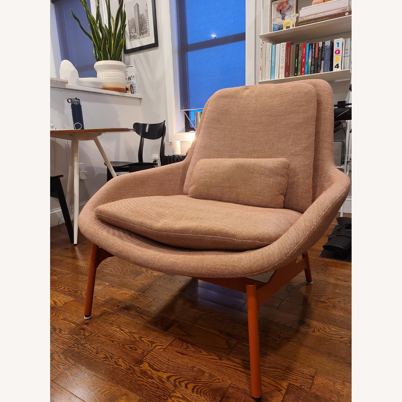 Blu Dot Lounge Chair in Tomato - image-1