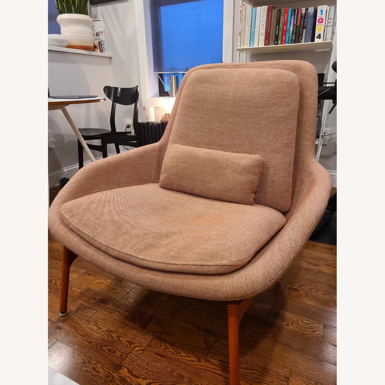 Blu Dot Lounge Chair in Tomato - image-2