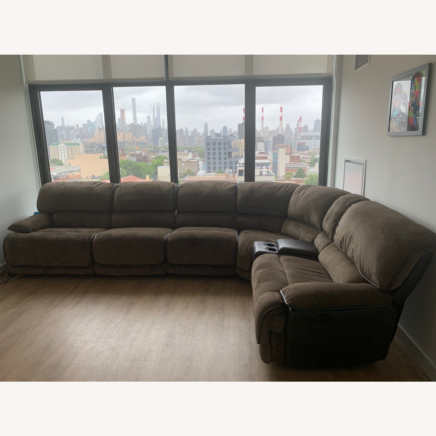Bob's Discount 6 Piece Reclining Couch - image-1