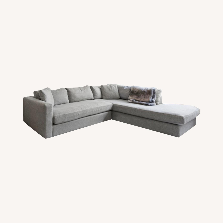 Macy's Modern Light Grey Sectional - image-0