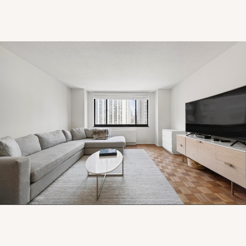 Macy's Modern Light Grey Sectional - image-3