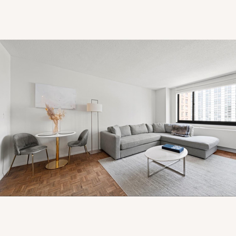 Macy's Modern Light Grey Sectional - image-4