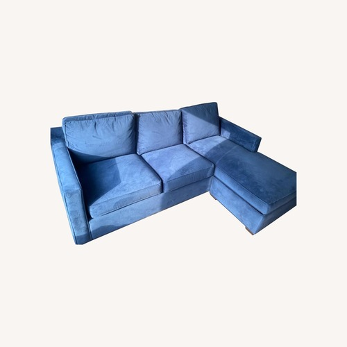 Used Crate & Barrel Sleeper in Blue for sale on AptDeco
