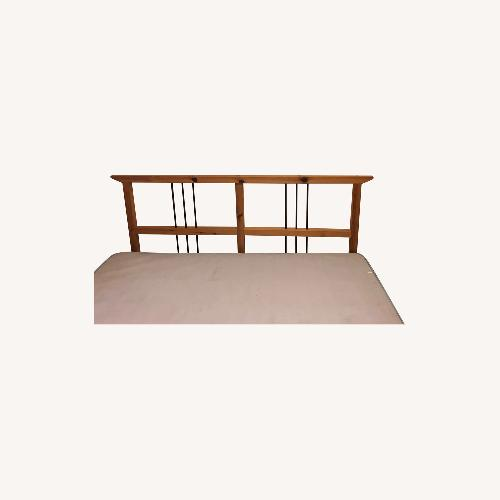 Used Wayfair Mission Style Pine Wood Bed Frame for sale on AptDeco