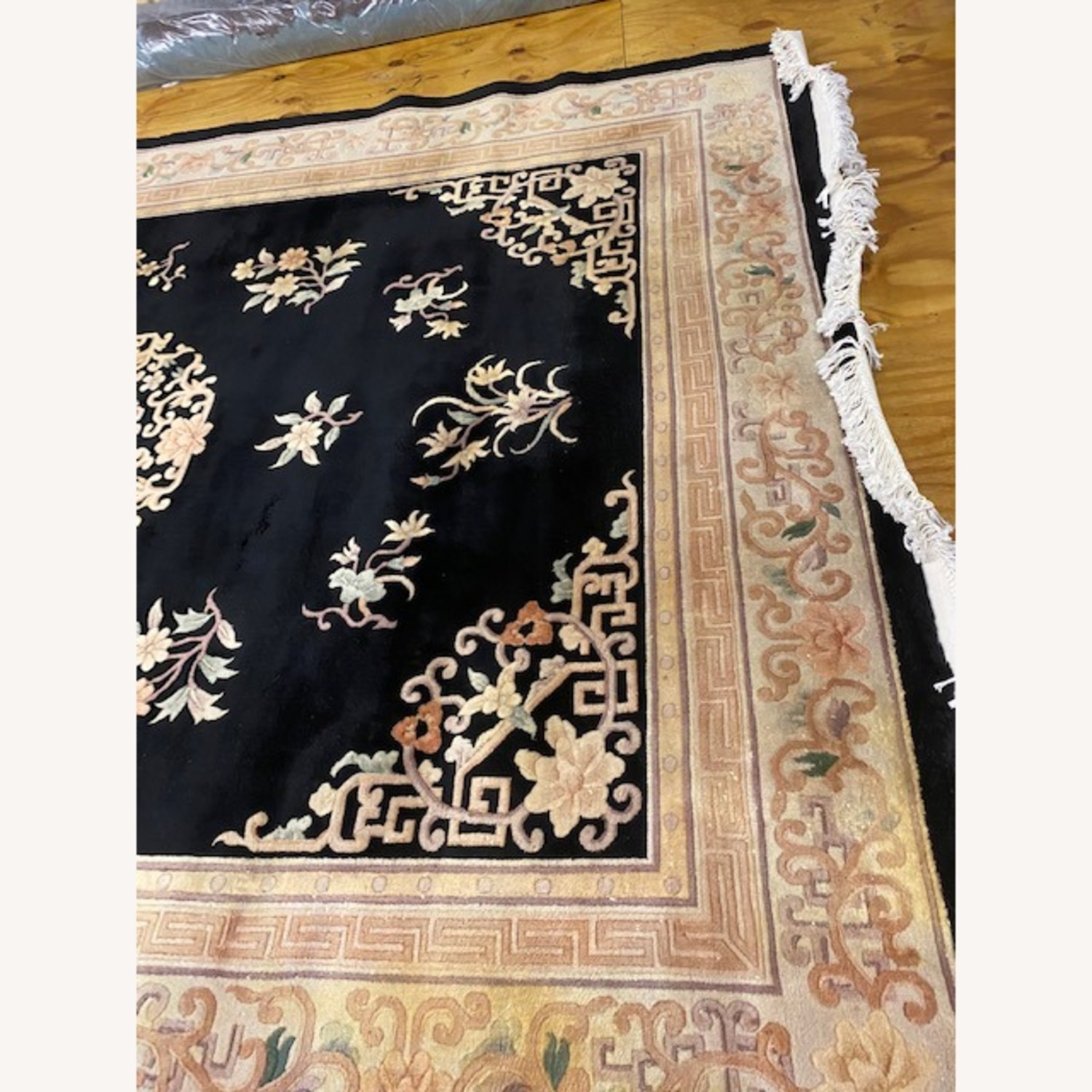 Vintage Chinese Deco Room Size Area Rug - image-6