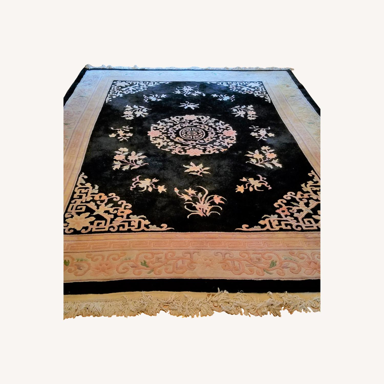Vintage Chinese Deco Room Size Area Rug - image-0
