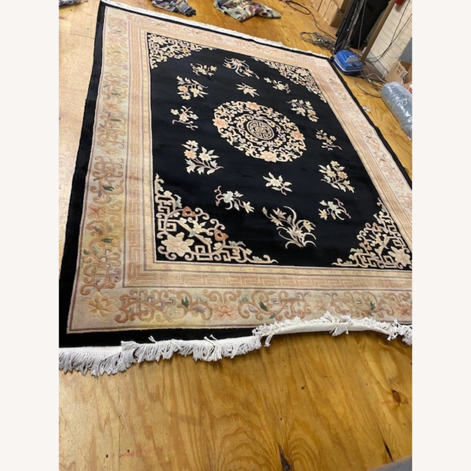 Vintage Chinese Deco Room Size Area Rug - image-5