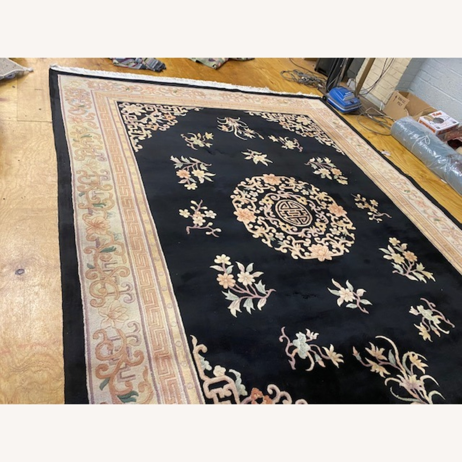 Vintage Chinese Deco Room Size Area Rug - image-7