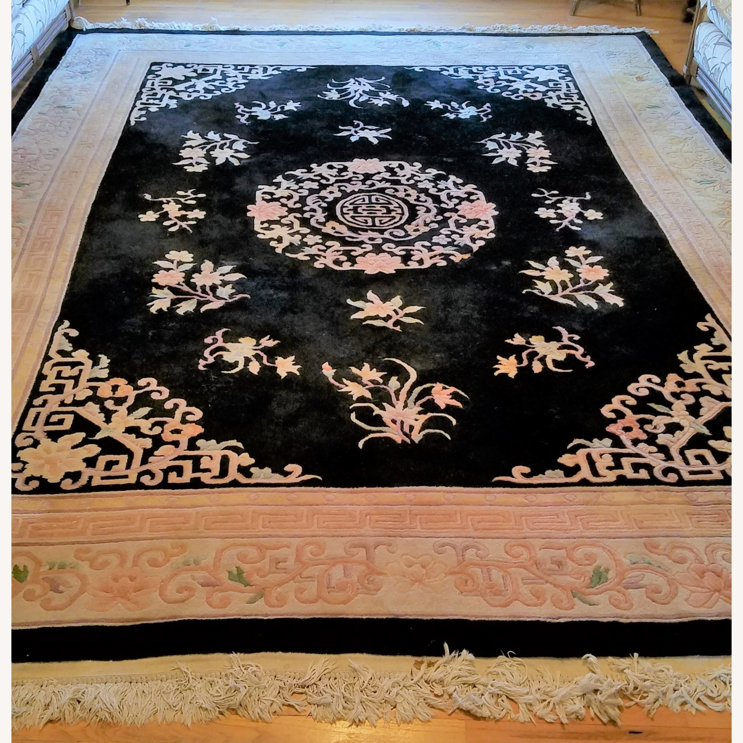 Vintage Chinese Deco Room Size Area Rug - image-9