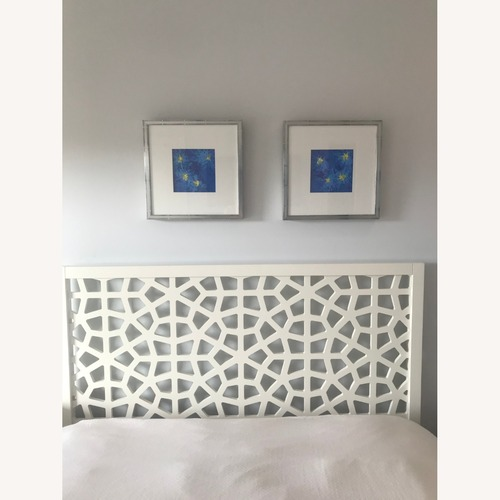 Used White Queen Bed for sale on AptDeco