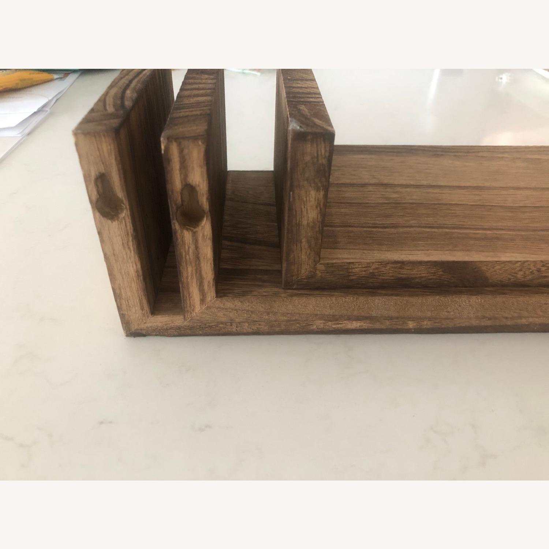 Brown Wood Wall Shelves (2 sets of 3!) - image-2