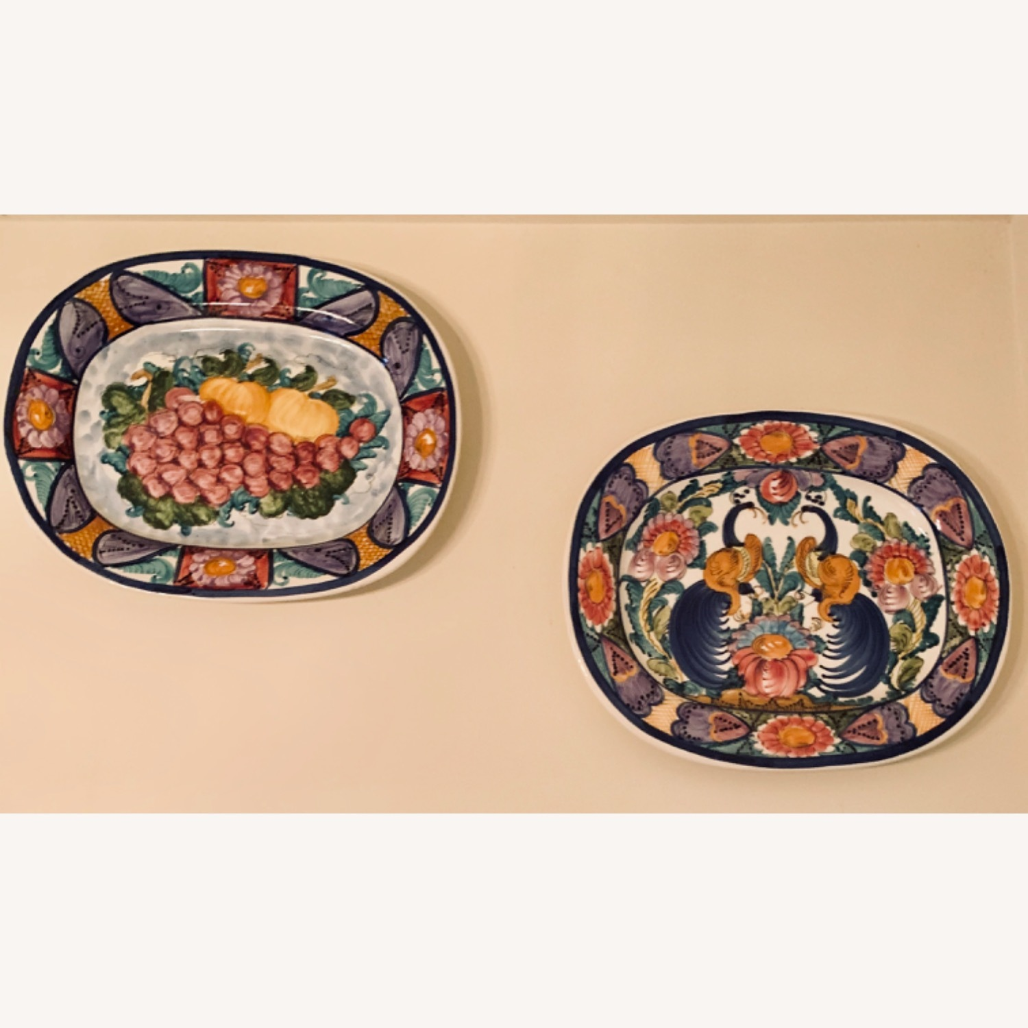 10 Greek Hand painted Platters and Soup Tureen - image-2