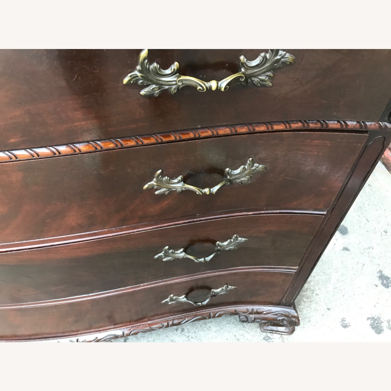 Antique 1900s Mahogany Dresser w/ Protection Glass - image-33