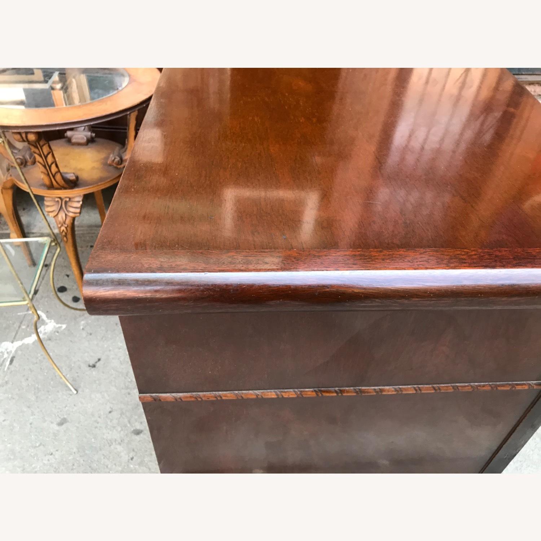 Antique 1900s Mahogany Dresser w/ Protection Glass - image-12