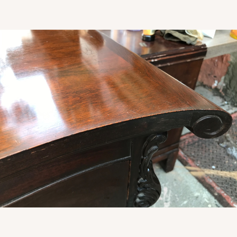 Antique 1900s Mahogany Dresser w/ Protection Glass - image-13