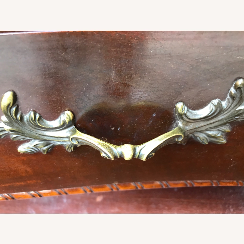 Antique 1900s Mahogany Dresser w/ Protection Glass - image-26