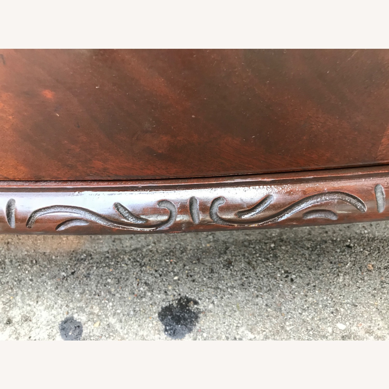 Antique 1900s Mahogany Dresser w/ Protection Glass - image-6