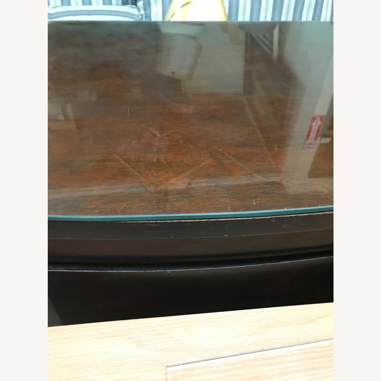 Antique 1900s Mahogany Dresser w/ Protection Glass - image-35